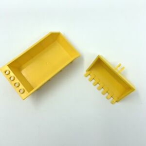 LEGO 4080 AND 2347 YELLOW DIGGER BUCKET 7 TEETH AND TIPPER BED Free P&P
