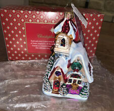 Christopher Radko 2016 Winter Church ornament New
