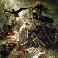 French Heroes by Anne-Louis Girodet-Trioson. Canvas Fantasy.  12x12 Print