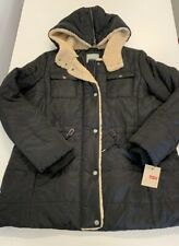 Levis Women's Quilted Puffer Jacket with Hood NEW Black LARGE $99.99 NEW