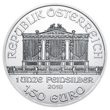 2018 Austrian Silver Philharmonic 1 oz Coin | Direct From Mint Sealed Tube