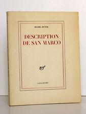 Description de San Marco. Michel BUTOR. nrf Gallimard 1963 Première édition