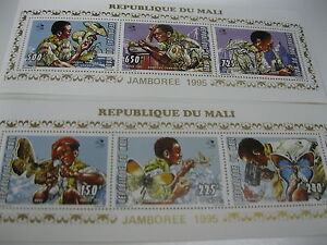 Mali-1995-Scouting Jamboree mushroom, butterfly -MI.1351-1356A