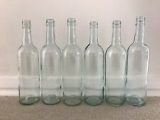 Clear With Blue/green Tint - Empty Wine Bottles X6 Screw Top