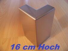 Rasenkante Beeteinfassung aus Edelstahl V2A,16cm,Kiesleiste 1 St. 90° Außenecke