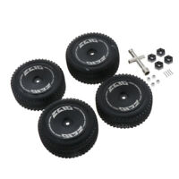 4pcs 1/14 RC Car Front Rear Wheel Rim Tyre for Wltoys 144001 2.4G RC Buggy Parts