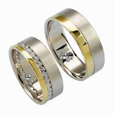 Men's 14k Multi-Tone Gold Diamond Wedding & Anniversary Bands