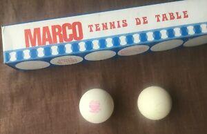 Ancienne Boîte de  Balles MARCO  TENNIS DE TABLE PING COMPLETE
