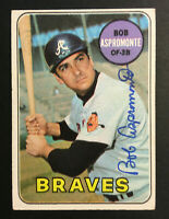 Bob Aspromonte Braves signed 1969 Topps baseball card #542 Auto Autograph
