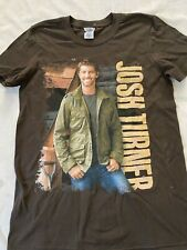 Josh Turner Tour Hommes Marron T-Shirt - Taille S Country Tee