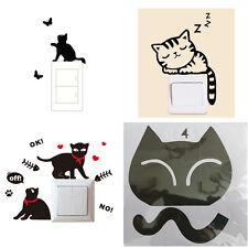 Stickers interrupteur motif chat, chambre d'enfant, etc...