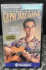 Learn To Play Django Style Gypsy Jazz Guitar Video 2 Paul Mehling - Vhs Sealed