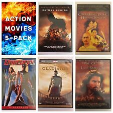 Lot of 5 Action DVD's: Batman Begins, Crouching Tiger, Gladiator, Last Samurai