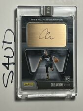 2020-21 Panini Instant NBA Metal Autographs Black 1/1 Cole Anthony Encased Auto