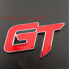 GT Badge RED & Silver Chrome for Ford Emblem Ranger Edge Ecosport Mustang KIA