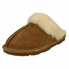 Bear Paw Ladies Leather Lined Mule Slippers - Loki II