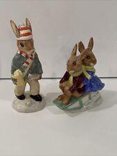 Royal Doulton Paperboy Bunnykins Billie & Buntie Beatrix Vintage Figurines