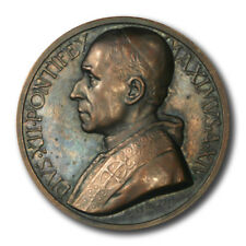 Vatican Pope Pius XII Year XIV High Relief Annual Papal Medal by Mistruzzi 1952