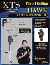 Quick Release Earpiece Hawk Lapel Mic for Motorola XTS3000 ASTRO XTS3500 XTS5000