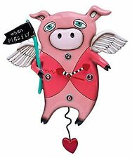 910830 RIKARO'S PENDULUM CLOCK, PIGS FLY! 'WHEN PIGS FLY' - GREAT GIFT IDEA!
