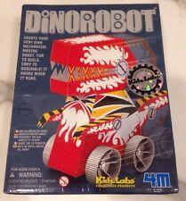 NEW DinoRobot by KidzLabs 4M. DIY Mechanical Dinosaur Robot Kit. Red
