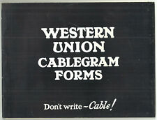 More details for complete booklet of 20 western union cablegrams/telegrams 1933