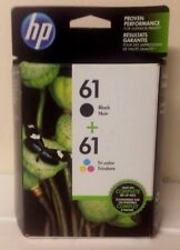 Genuine HP 61 Black Color Ink Cartridge Combo Pack, Factory Sealed, EXP Dec 2015