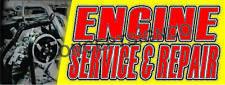 15x4 Engine Service Amp Repair Banner Outdoor Indoor Sign Auto Shop Fix Brakes