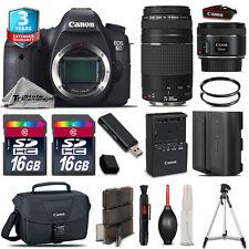 Canon EOS 6D DSLR Camera + 50mm STM + 75-300mm + EXT BATT+ 32GB + 3yr Warranty