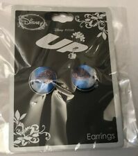 Disney Pixar UP! Fabric Buttons Stud Earrings House Balloons Jewelry New