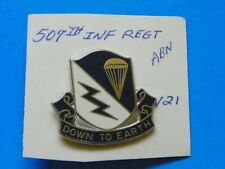 507Th Original Airborne Regiment U.S. Overseas Hat Insignia-Maker Marked