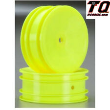Associated 9691 Front Buggy Wheels Hex Yellow (2) RC10B4 RC10B5 Fast ship +track