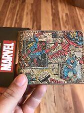 NWT Marvel Bioworld Spider-Man Rubber Men's Bifold Wallet