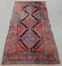 ANTIQUE COUNTRY HOUSE SHABBY CHIC PERSIAN KURDISH RUG  100 YEARS OLD