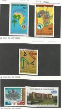 Gabon, Postage Stamp, #661, 670, 662, 663, 669 Mint LH, 1989 Map