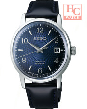 Seiko PRESAGE SRPE43J1 Automatic Leather Cocktail Manhattan Blue Japan Made