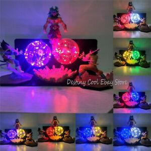 Dragon Ball Z Goku Vegeta VS Broly LED Light Lamp Figure Model Toy Desk Decor