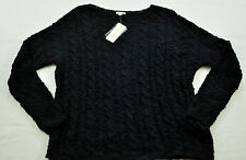 women's SONOMA black knobby loose weave sweater size large  MSRP $40 brand new
