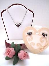 "Brighton ""ALCAZAR HEART"" Garnet Necklace-Earring Set (MSR$64) NWT/Pouch"