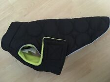 """NEW SILVER PAW Quilted DOG COAT size SMALL 11"""" Black Padded Jacket Fleece Lined"""