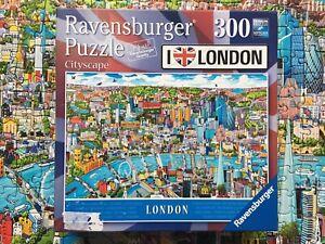 Ravensburger Cityscape I Love London 300 Big Piece Jigsaw Puzzle COMPLETE