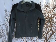 Helly Hansen Black Fleece Overall Women Size S 1/4 Zip Pullover Long Sleeve Logo