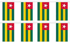 Togo 12x18 Bunting String Flag Banner (8 Flags)