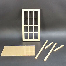 Playscale Window 12-panes miniature dollhouse 1:12 scale New Doll