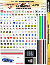 MG3101 - 1/64 HO UltraCal High Def Decals Number Squares Fits AFX, Aurora, T-Jet