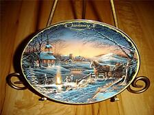 Terry Redlin Seasons To Remember January Calendar Bradford Exchange Plate