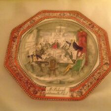 """ADAMS DICKENS PICKWICK PAPERS 8.25"""" PLATE MR PICKWICK ADDRESSES THE CLUB FIRST"""