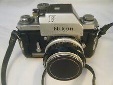 1960'sNIKON F Photomic SLR Camera Body w/ Nikkor-S 50mm f1.4 Prime MF Lens +Case