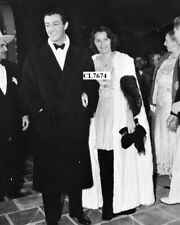 Barbara Stanwyck and Robert Taylor at Movie Premiere of 'Camille', Palm Springs