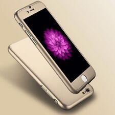 """Funda rígida ultrafina iPhone 6 6S cubierta de vidrio templado para 4.7"""" híbrido 360 ° oro"""